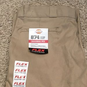 DICKIES Work Pants 40x32 tan NEW